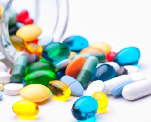Bottle of tablets