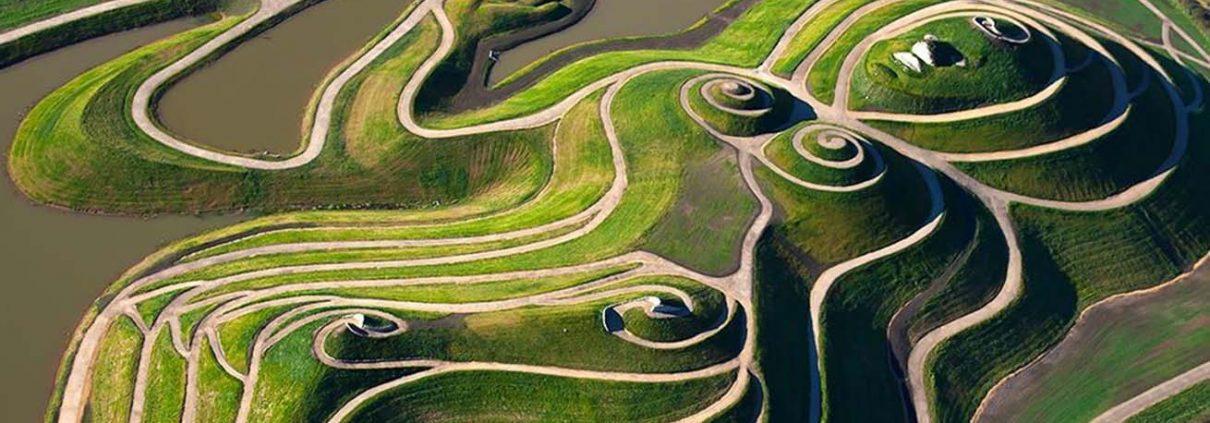 Northumberlandia aerial view