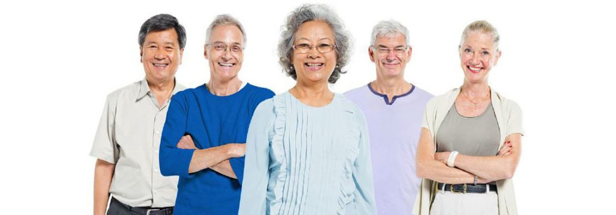 Group of smiling older people