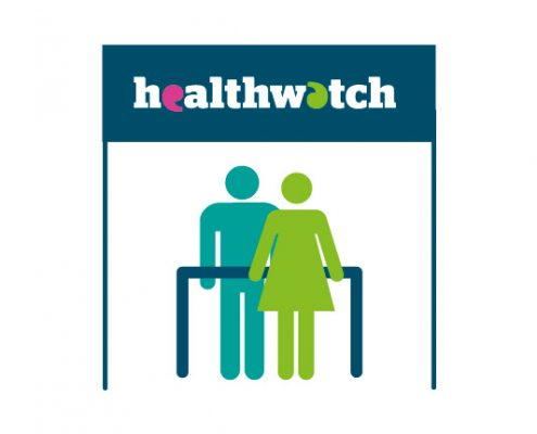 Healthwatch logo and people icon